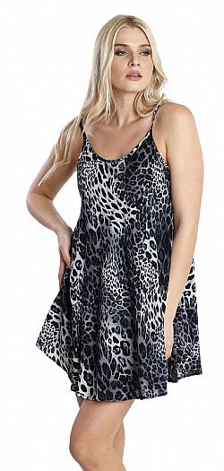 LEOPARD LITTLE DRESS